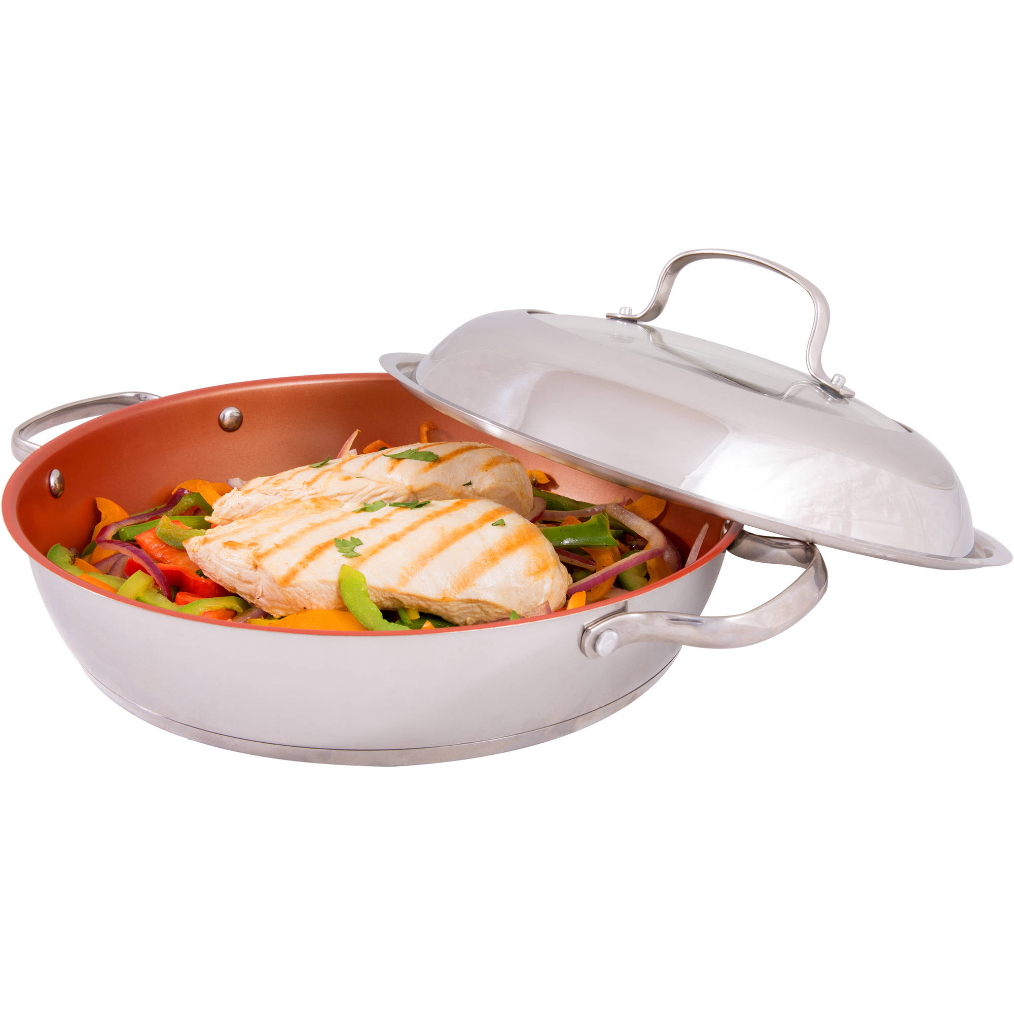 "NuWave 31125 11"" Deluxe Grill Pan with Lid"