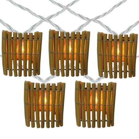 detailed look 435fc ee213 10 Tropical Bamboo Outdoor Patio String Lights - 7.25ft White Wire