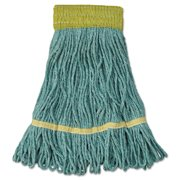 Boardwalk Super Loop Wet Mop Head, Cotton/Synthetic Fiber, Small, Green, 12/Carton -BWK501GN
