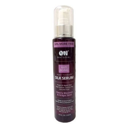 on natural anti aging heat therapy silk serum 4.5oz / 135 ml - cherry blossom & grape seed by next (6 Week Anti Reversion Serum Natural Hair)