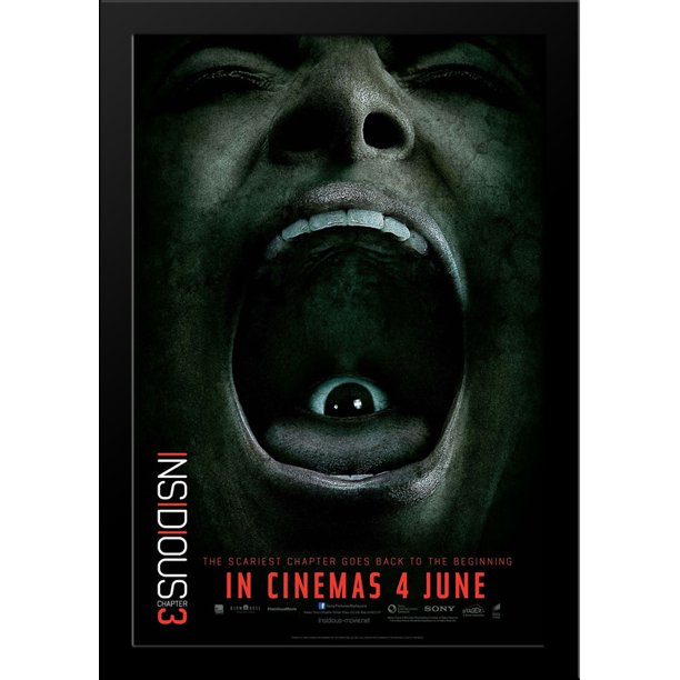 Insidious Chapter 3 28x36 Large Black Wood Framed Movie Poster Art Print Walmart Com Walmart Com
