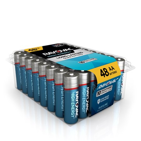 Rayovac High Energy Alkaline, AA Batteries, 48 Count