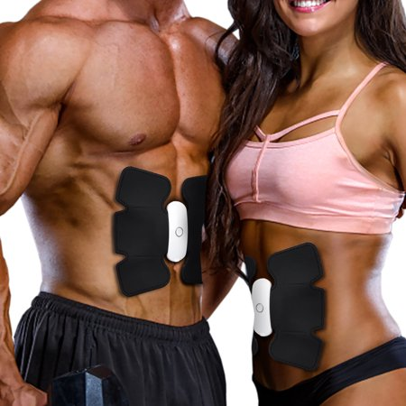 Abdominal Muscle Toner, Ikeepi Abs Trainer Ab Toning Belt Wirelss Muscle Exercise Unisex Fitness Training Gear Lazy Loss Weight Exercise Massager for Men and Women Home Office Workout (Best Ab Exercises For Men Over 50)