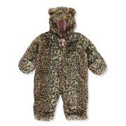 Carter's Baby Girls' Leopard Eared Hooded Pram Suit (Newborn)