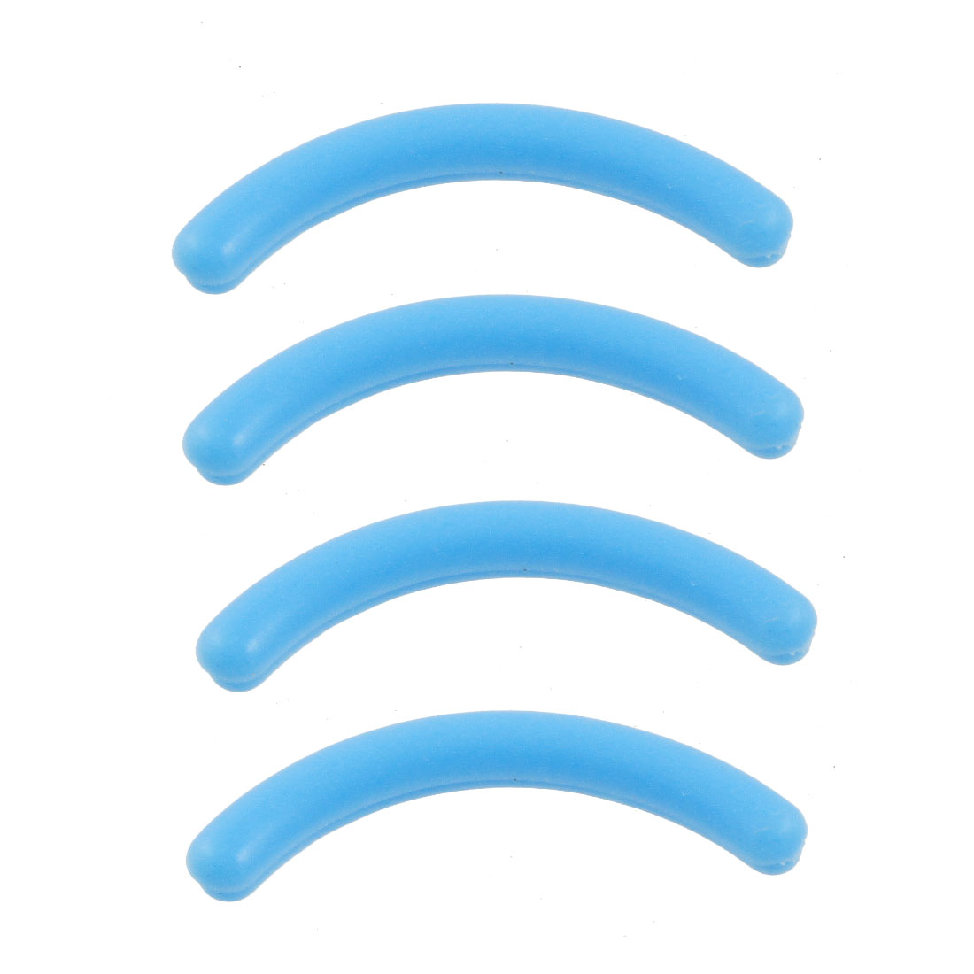 4 Pcs Rubber Eyelash Curler Refill Cushion Pad Replacement Blue