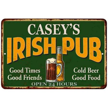 CASEY'S Irish Pub Chic Sign Vintage Wall Décor 8x12 Metal Sign M8120013271