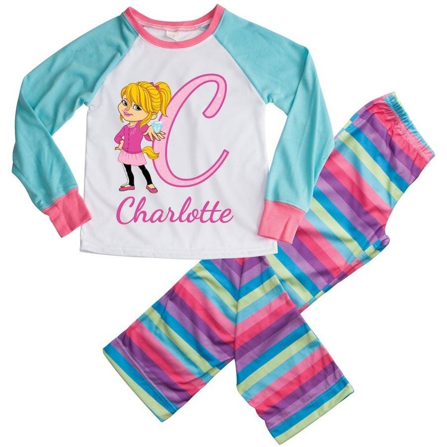 Personalized Alvin and the Chipmunks Girls Youth Pajamas - S, M, L