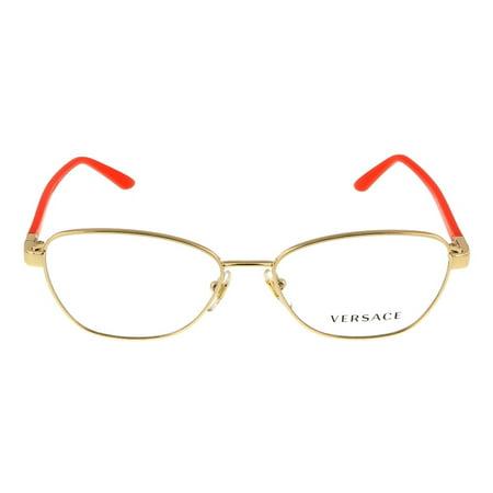 9f6a7908d105 Versace VE1221 1252 Gold/ORANGE Oval Opticals - Walmart.com