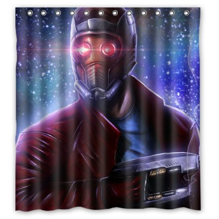 DEYOU Darth Vader Mask Star Wars Shower Curtain Polyester Fabric Bathroom Size 66x72 Inches