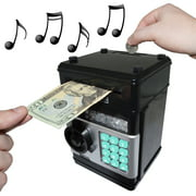Cash Vault for Kids - Password Protect Your Bills and Coins - Bank Safe Features Sound Effects, Lights, and Music