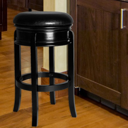 Lavish Home Ornate Base Wood Swivel Stool - Walmart.com
