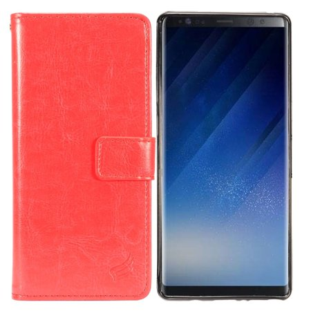 Galaxy Note 8 Wallet Case, Galaxy Note 8 Case, by Insten Folio Flip Leather Cover Wrap Detachable Magnetic Leather Case [with Credit ID Card Holder Slot] Wallet Pouch For Samsung Galaxy Note 8
