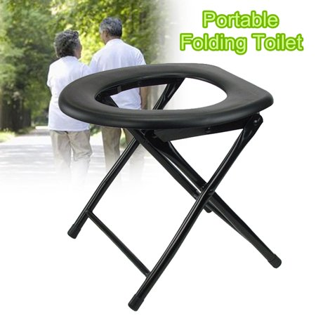 Moaere Folding Commode Portable Toilet Seat Potty Chair