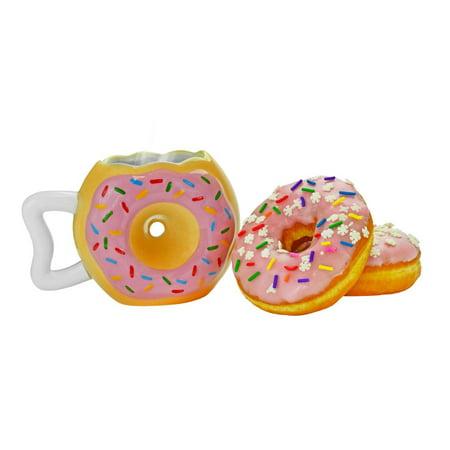 Donut Shape Novelty Doughnut Coffee Mug ()