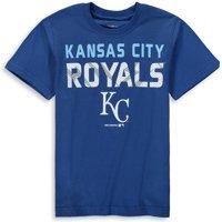 MLB Kansas City ROYALS TEE Short Sleeve Boys Team Name and LOGO 100% Cotton Team Color 4-18