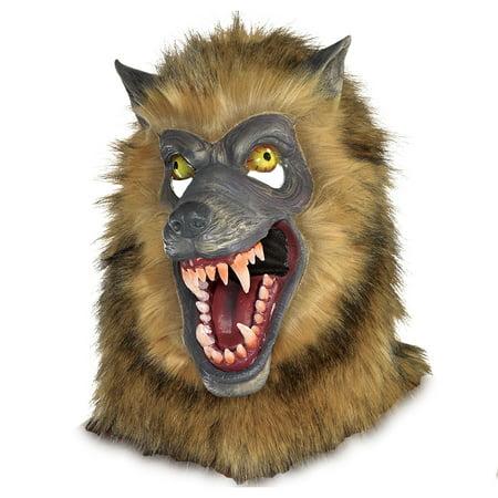 Werewolf Mask Halloween Express (Brown Werewolf Mask Halloween Costume Accessory, One Size , by)