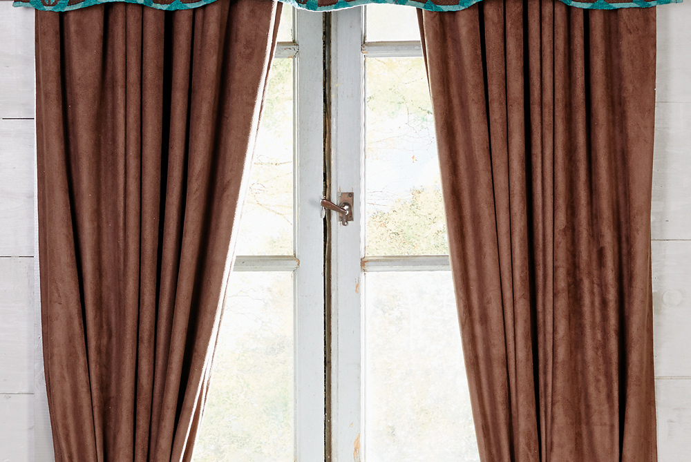 Chocolate Western Drapes Southwestern Window Treatments by