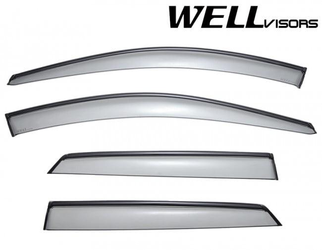 WELLvisors Window Visors For Infiniti M35 M45 06-10 Wind Deflectors Rain Guards