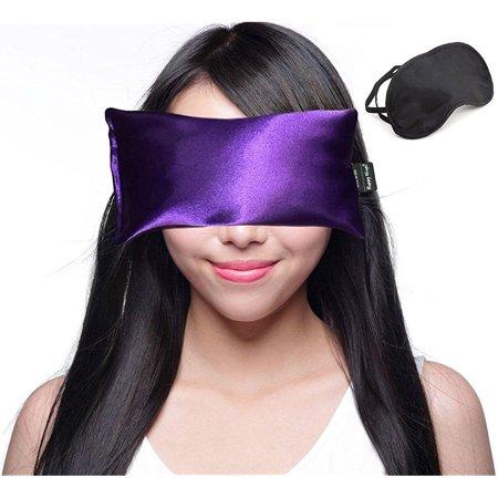 happy wraps hot cold lavender eye pillow with eye mask for sleep, - Lavender Silk Eye