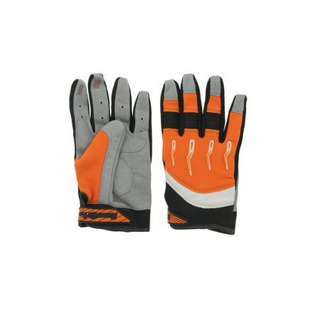 Race-Driven ATV MX Off Road Silicone Fingertip Riding Gloves Orange