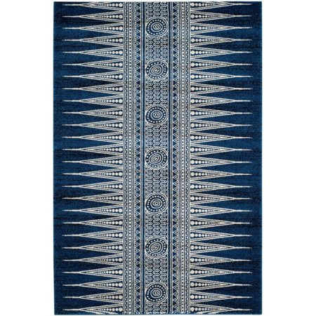 Safavieh Evoke 3' X 5' Power Loomed Rug in Royal and Ivory - image 1 of 8