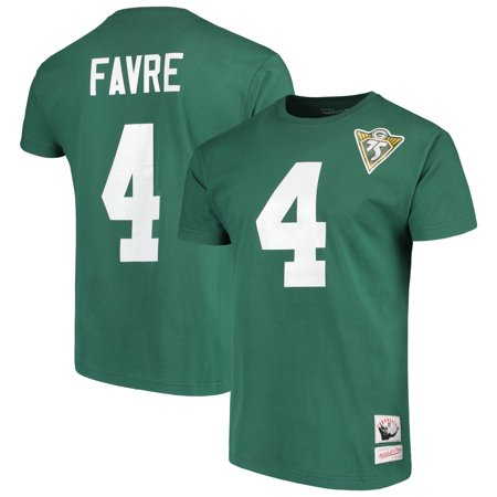 Brett Favre Green Bay Packers Mitchell & Ness Retired Player Name & Number T-Shirt - Green Brett Favre Green Bay Packers