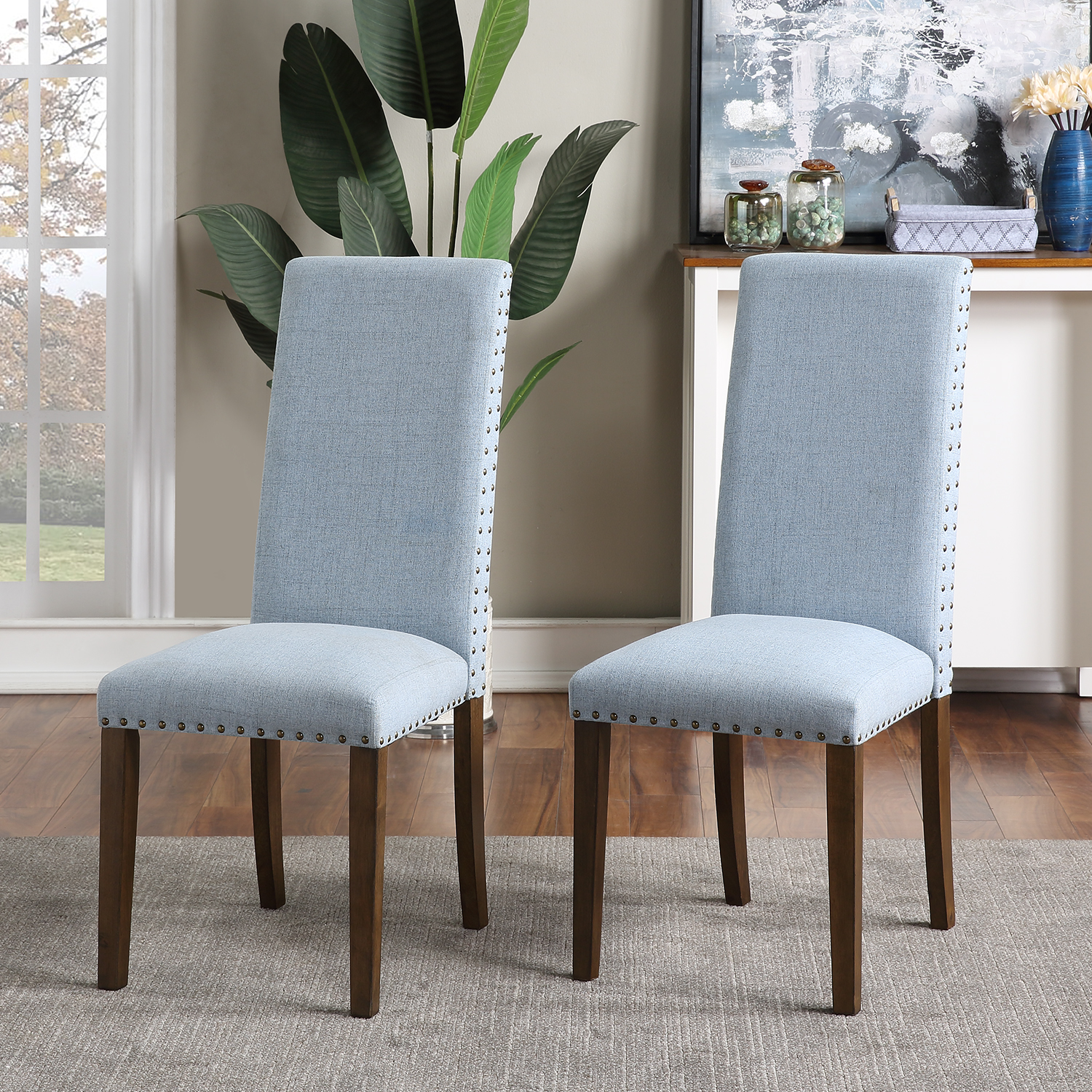 Enyopro Set Of 2 Dining Room Chairs Living Room Side Chairs Upholstered Accent Chairs With Solid Wood Legs Contemporary Dining Chairs With Armless For Hotel Restaurants Wedding Home Kitchen B2353 Walmart Com
