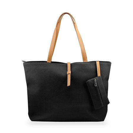 Black Leather French Purse - Fashion Lady Ladies Women PU Leather Messenger Hobo Shoulder Handbag Shoulder Bag Tote Purse