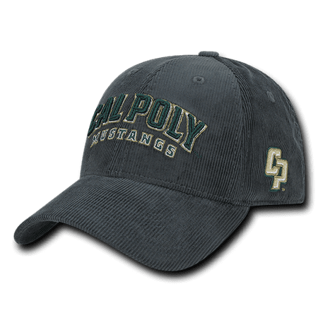 NCAA Cal Poly Mustangs University Structured Corduroy Baseball Caps Hats