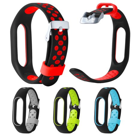 Hight Quality Lightweight Ventilate TPE Wrist Strap Wristband Bracelet For Xiaomi Mi Band 2