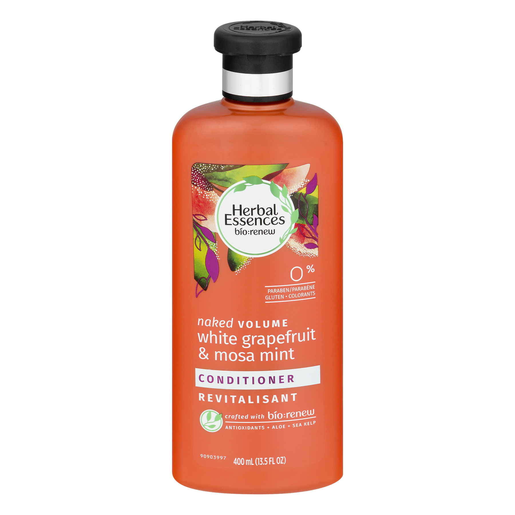Herbal Essences Bio:renew White Grapefruit & Mosa Mint Naked Volume Conditioner, 13.5 Fl Oz