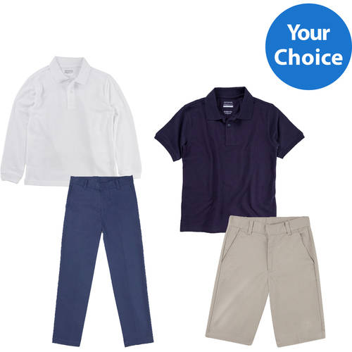 Boys' School Uniform Outfit Bundle, Your Choice of Tops, Bottoms, Sizes, and Colors (Also available in Husky Sizes)