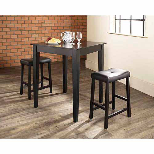walmart furniture sets crosley furniture 3 pub dining set with tapered leg 13782
