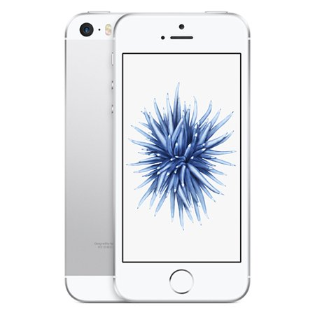 Refurbished Apple iPhone SE 16GB Silver LTE Cellular Straight Talk/TracFone MLLX2LL/A - TF