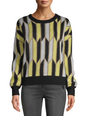Scoop Blouson Geo Knit Sweater Women's