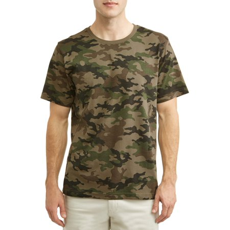 Men's Printed Tee, Up to Size (Ultraviolet Camouflage T-shirt)