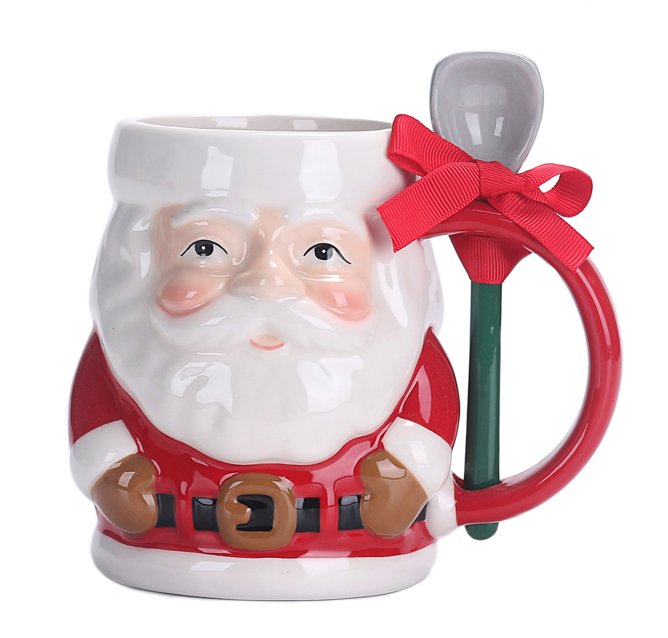 Holiday Time Santa Mug With Spoon Walmart Com Walmart Com