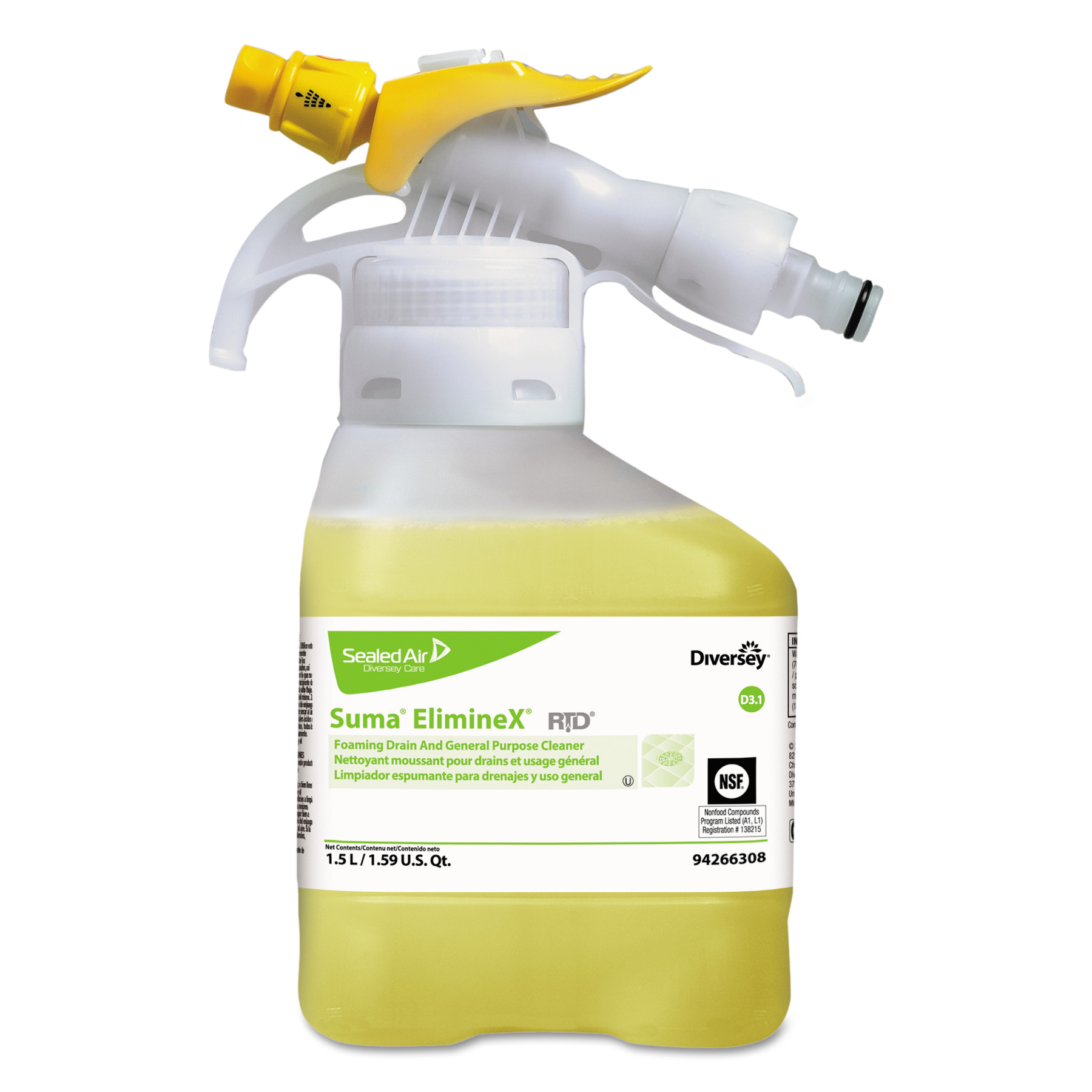 Johnson Diversey DRK4266308 Suma Eliminex D3.1, Liquid, 5...