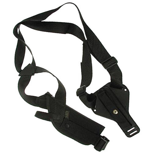Uncle Mikes Sidekick Vertical Shoulder Holster Cordura Black Size 4, Right Hand