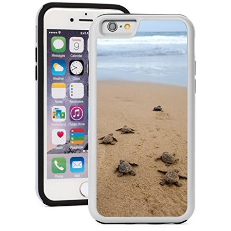 For Apple iPhone Shockproof Impact Hard Soft Case Cover Baby Turtles Going Towards Ocean (White for iPhone 7 Plus)](Go Plus)