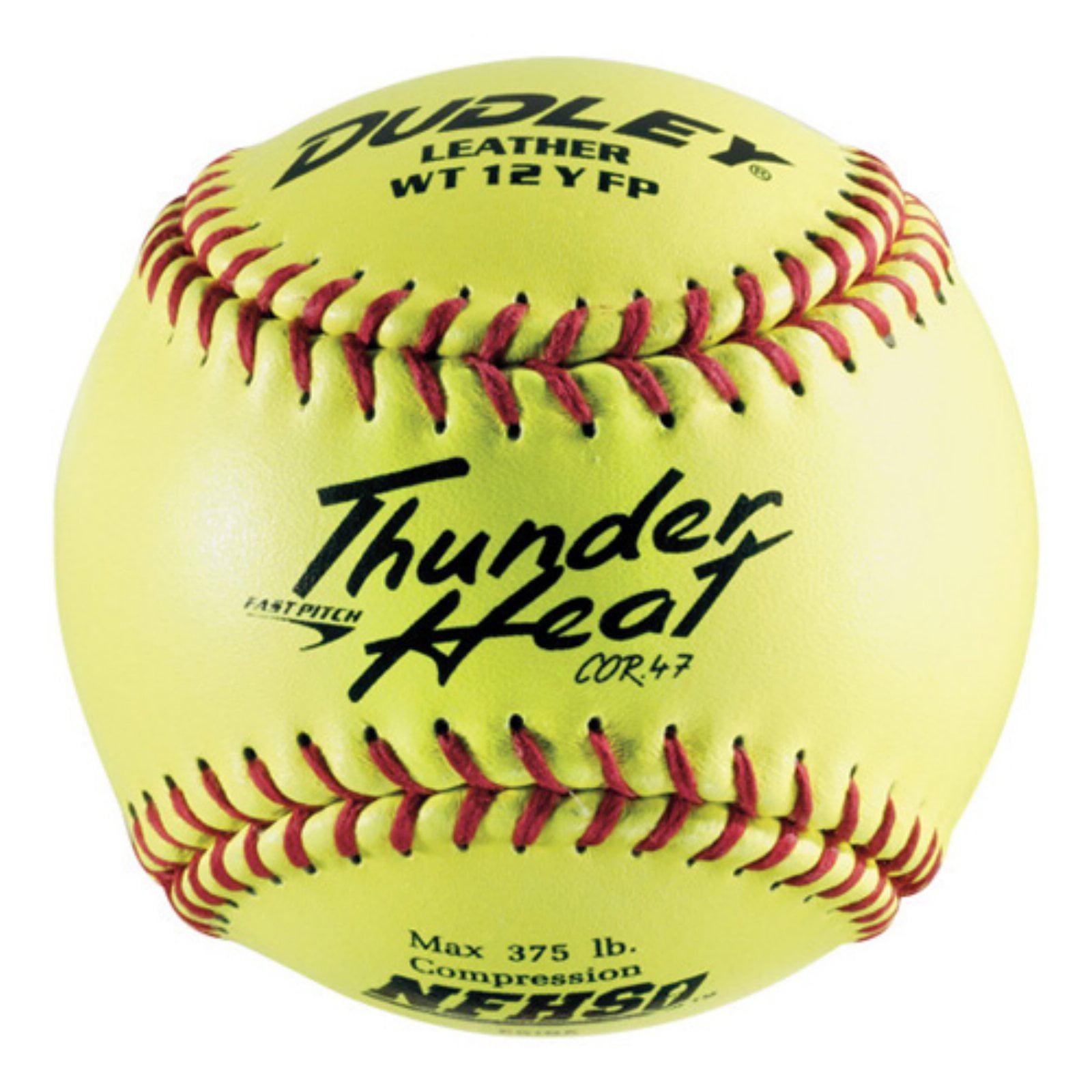 Dudley WT12Y-FP NFHS 12 in. Fastpitch Softballs - 1 Dozen