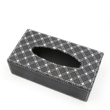Car Rectangle Faux Leather Tissue Napkin Paper Holder Case Storage Box