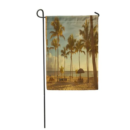 SIDONKU Jamaica Beautiful Retro Seaside View Beach Paradise Best Summer Garden Flag Decorative Flag House Banner 12x18 (Best Of Beach House)