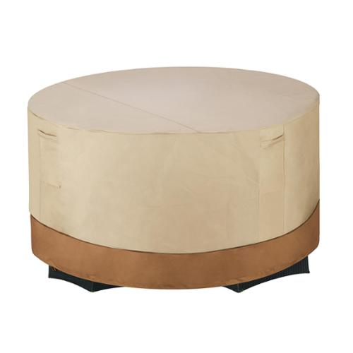 Villacera High Quality Patio Table & Chair Cover, Round, Beige & Brown, Small