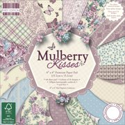 "First Edition Premium Paper Pad 6""X6"" 64/Pkg-Mulberry Kisses, 16 Designs/4 Each"