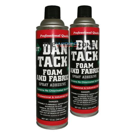 2 x Dan Tack 2012 Foam & Fabric Spray Adhesive or Glue Can 12 oz (Best Glue For Fabric To Foam)