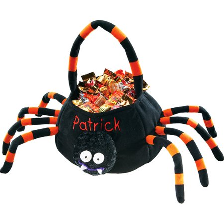 Halloween Trick Or Treat Bags Personalized.Personalized Plush Halloween Trick Or Treat Bag Spider