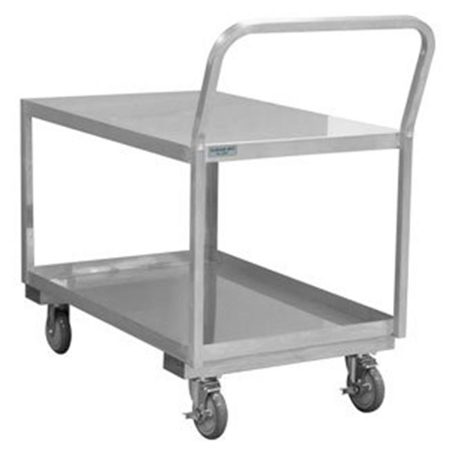 Durham SLDO16243625PU 38 in. Stainless 2 Shelves Low Deck Carts - 1200 lbs