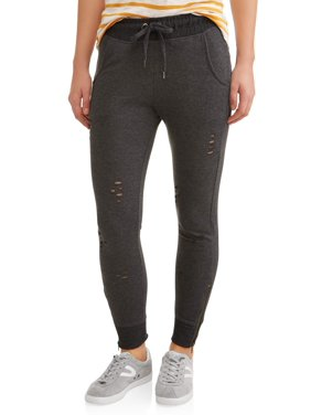 02ed14882ba4 Product Image New York Laundry Athleisure Womens Distressed Pant Jogger  with Zipper (SIZES S-3X AVAILABLE