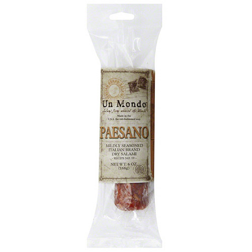Un Mondo Paesano Salami, 6 oz, (Pack of 8) by Generic